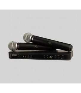 Sistema inalámbrico dual Shure BLX288/SM58 H8E