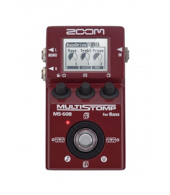 Pedal multistomp para bajo Zoom MS60B
