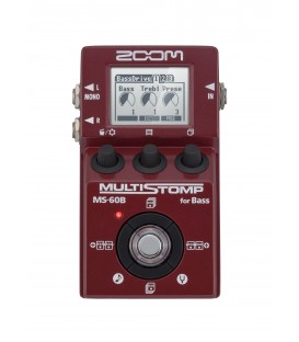 Pedal multistomp para bajo Zoom MS60B