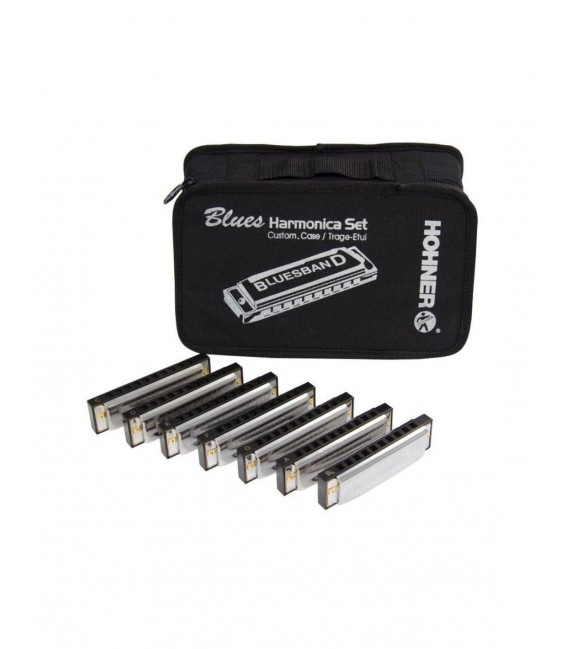 Maletin 7 Armónicas Hohner Blues Starter Set 91105