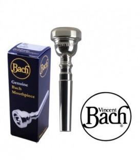 Boquilla Trompeta Bach Plateada 3D