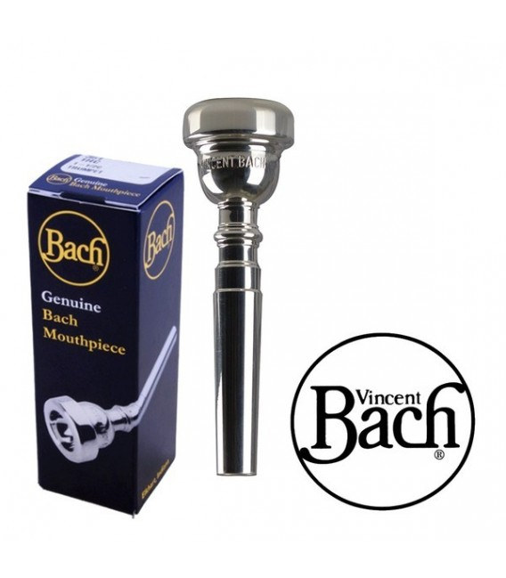 Boquilla Trompeta Bach Plateada 3C