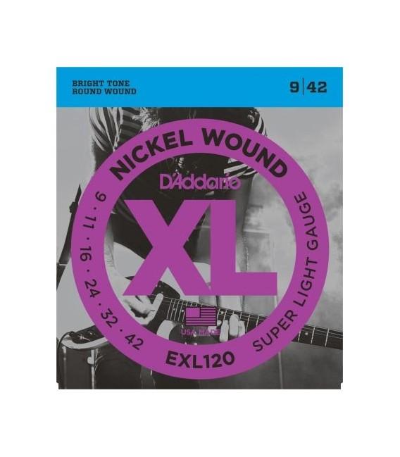 Juego cuerdas eléctrica Daddario EXL120 09-42