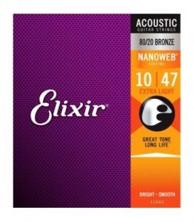 Juego cuerdas acústica Elixir 11002-BR 10-47