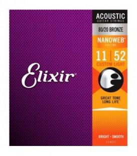 Juego cuerdas acústica Elixir 11027-BR 11-52