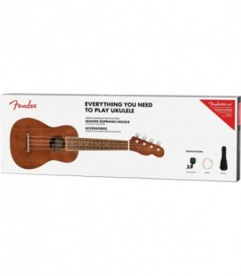 Pack ukelele soprano Fender Seaside NT