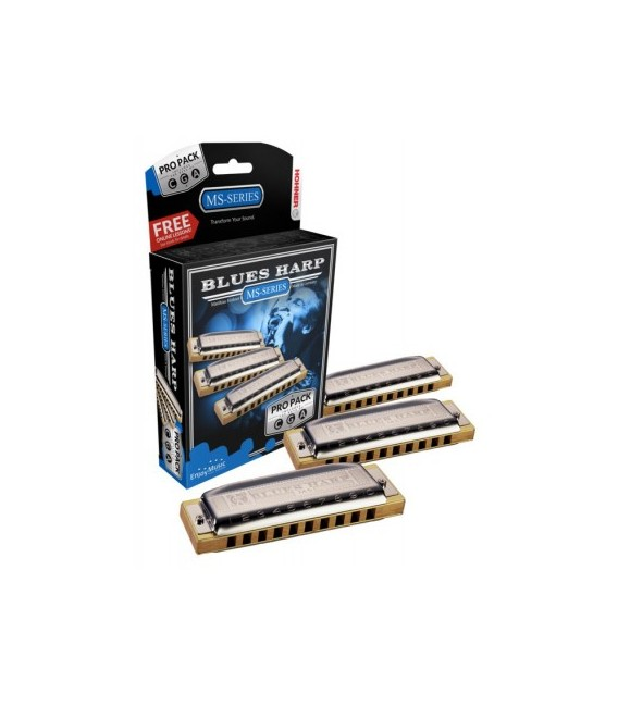 Propack Armónicas Hohner Blues Harp A/C/G