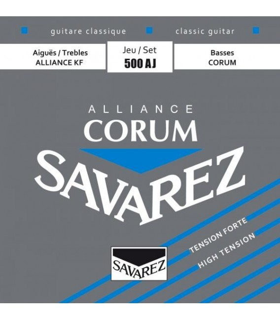Juego cuerdas clásica Savarez Corum Alliance azul 500AJ