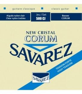 Juego cuerdas clásica Savarez Corum New Cristal azul 500CJ