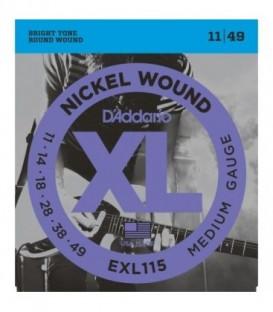 Juego cuerdas eléctrica Daddario EXL115 11-49