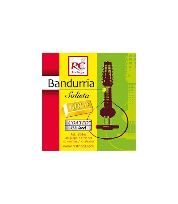 Juego cuerdas bandurria Royal Classics solista gold BDS10