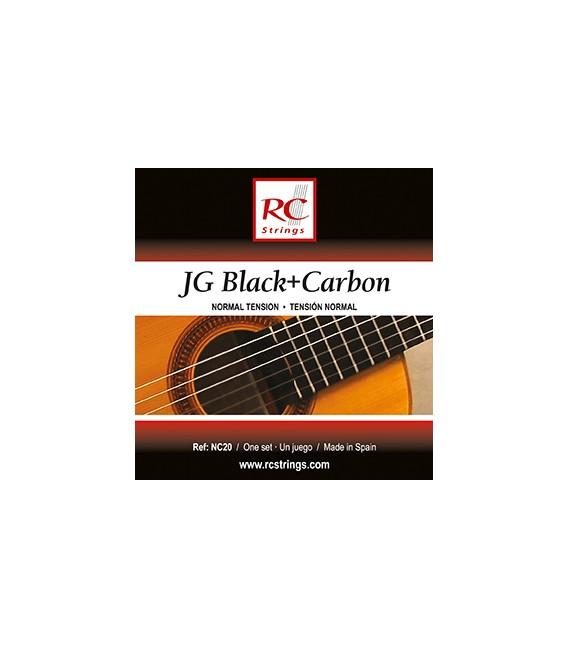 Juego cuerdas clásica Royal Classics Black & Carbon NC20