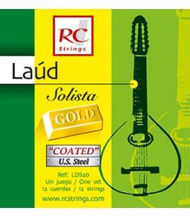 Juego cuerdas laud Royal Classics solista gold LDS20