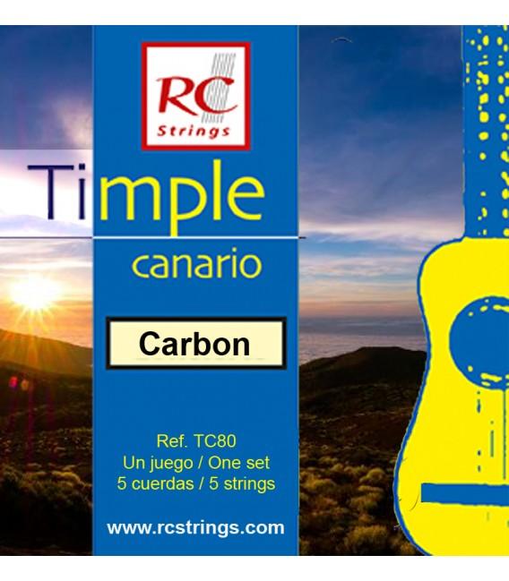 Juego cuerdas timple Royal Classics Carbon TC80