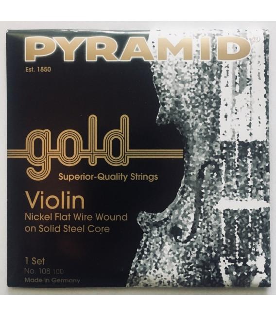 Juego cuerdas violin Pyramid gold 4/4 108100