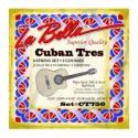 Juego cuerdas tres cubano La Bella CT750