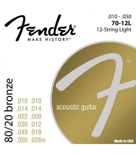 Juego cuerdas Fender 70-12L 12 cuerdas