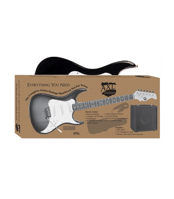 AXL AS-BOX-BK electric guitar pack