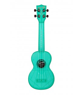 Ukelele Waterman azul fluorescente