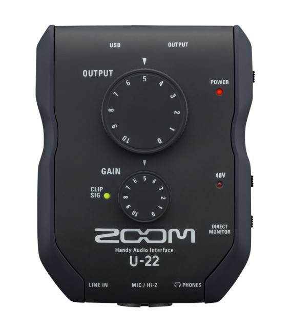 Interface de audio Zoom U-22