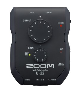Interface de audio Zoom U-22