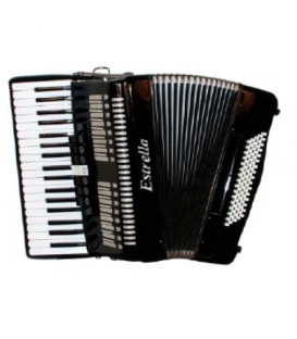 Estrella 37/80 black accordion