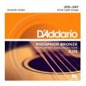 Juego cuerdas acústica Daddario EJ15 10-47