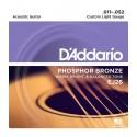 Juego cuerdas Acústica Daddario EJ26 11-52