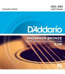 Daddario EJ16 Acoustic Guitar Strings 12-53