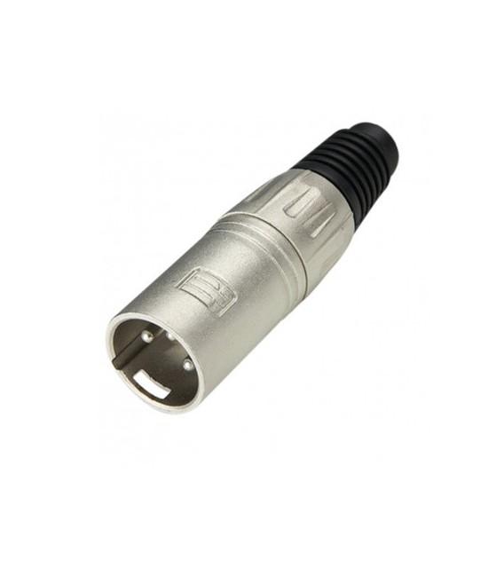 Adam Hall connector XLR Plug male silver 7899