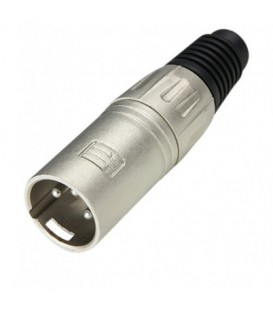 Adam Hall connector XLR Plug male silver 7899