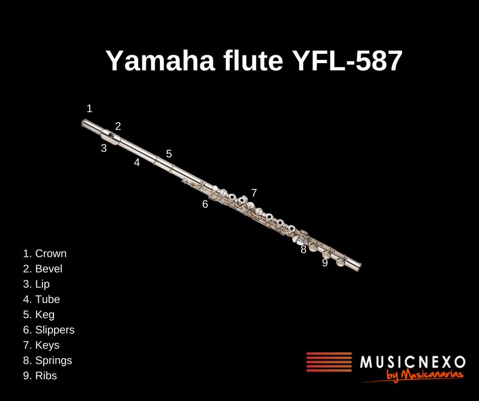 Yamaha flute YFL-587