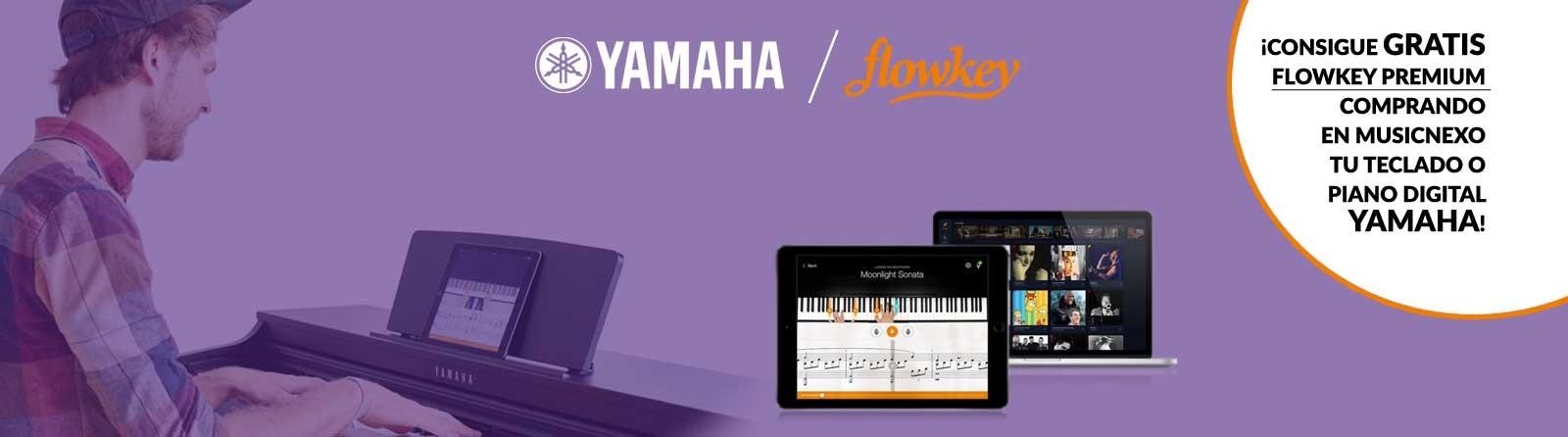 Compra un piano digital o teclado Yamaha y llévate Flowkey Premium ¡totalmente gratis!