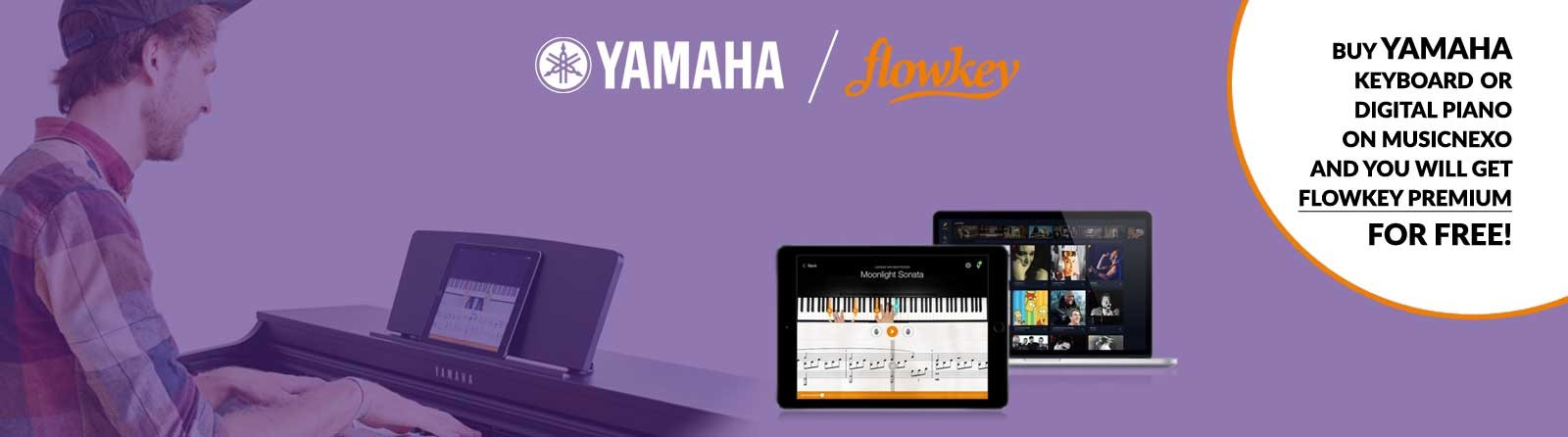 Buy a new Yamaha digital piano or keyboard and get Flowkey Premium for free!